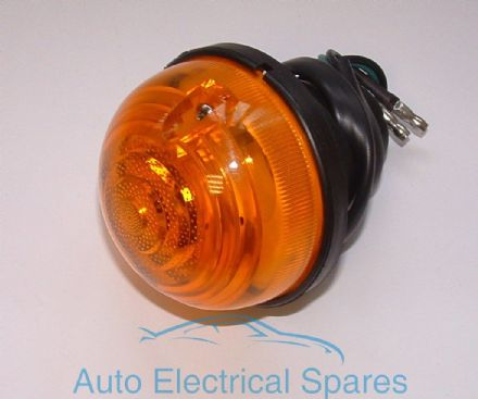 Indicator Lamp / light unit COMPLETE Amber lens replaces Lucas L760